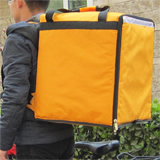 PK-76Y: Delivery bag for takeaway food, Pizza take out backpack, keep hot/cool, 16