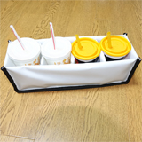 PK-HOLDER4: Drinking and Soup Delivery Holder, Avoid Spillage, to Fit 4 Cups, 40cm * 10cm * 12cm