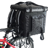 PK-92V: Food delivery box for bicycle, 18 inch pizza takeaway bags, large duty, 18