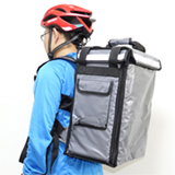 PK-33AG: Small pizza takeaway backpack, Chinese food delivery bags, top + side loading, 13