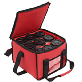 PK-18A: Beverage Delivery Bags with 3 Cup Holder Bags Holds up to 9 Coffee Cups, Drinking Delivery Bag