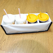 PK-HOLDER4: Drinking and Soup Delivery Holder, Avoid Spillage, to Fit 4 Cups